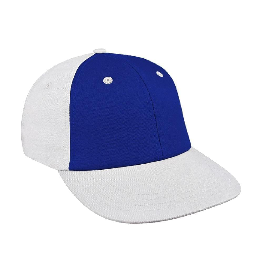 Royal Blue-White Canvas Velcro Lowstyle