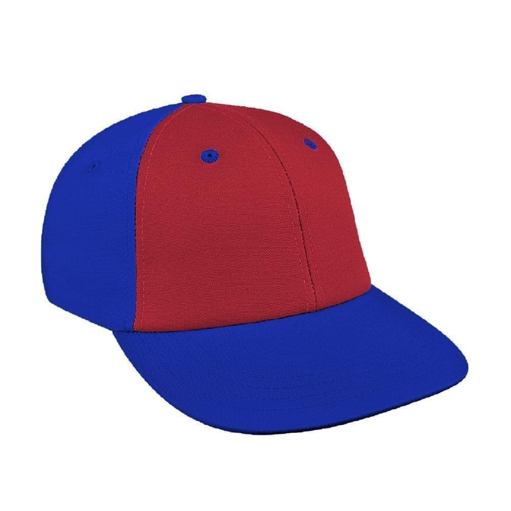 Red-Royal Blue Canvas Snapback Lowstyle