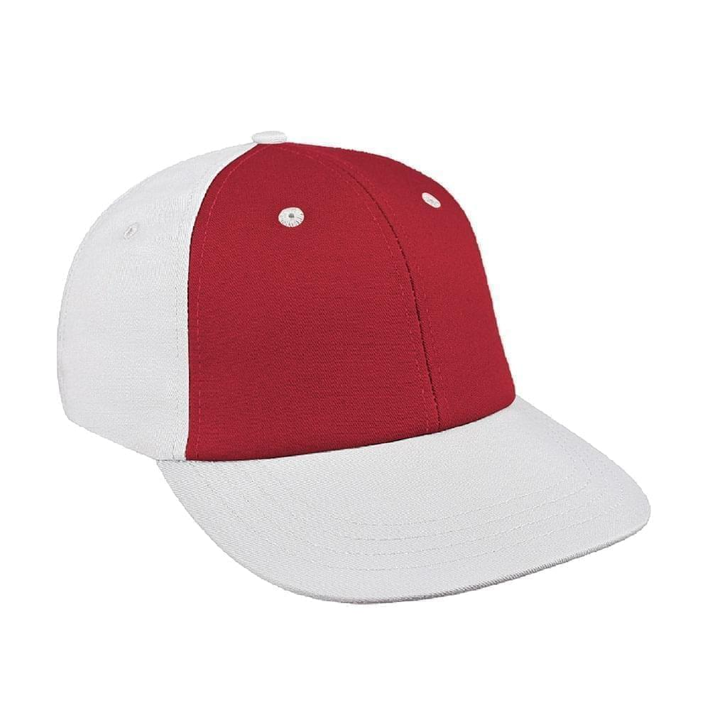 Red-White Canvas Velcro Lowstyle