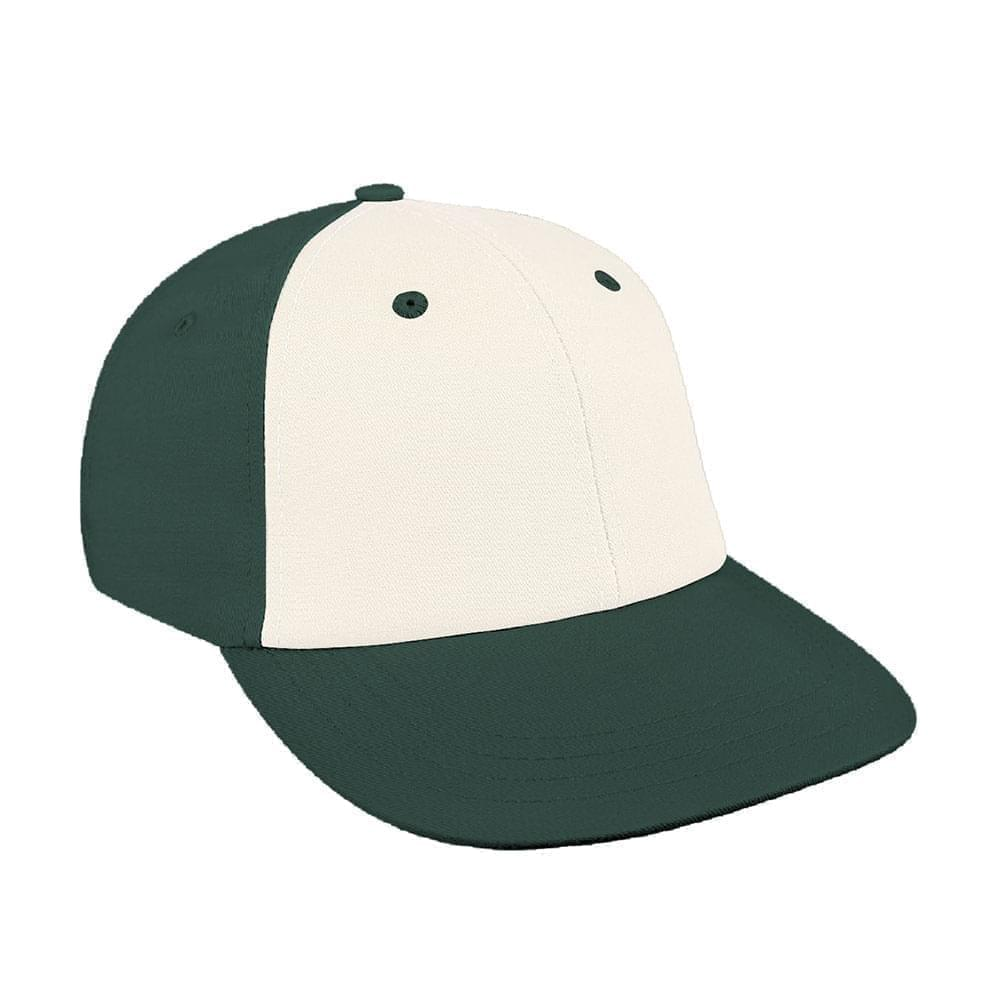 White-Hunter Green Canvas Snapback Lowstyle