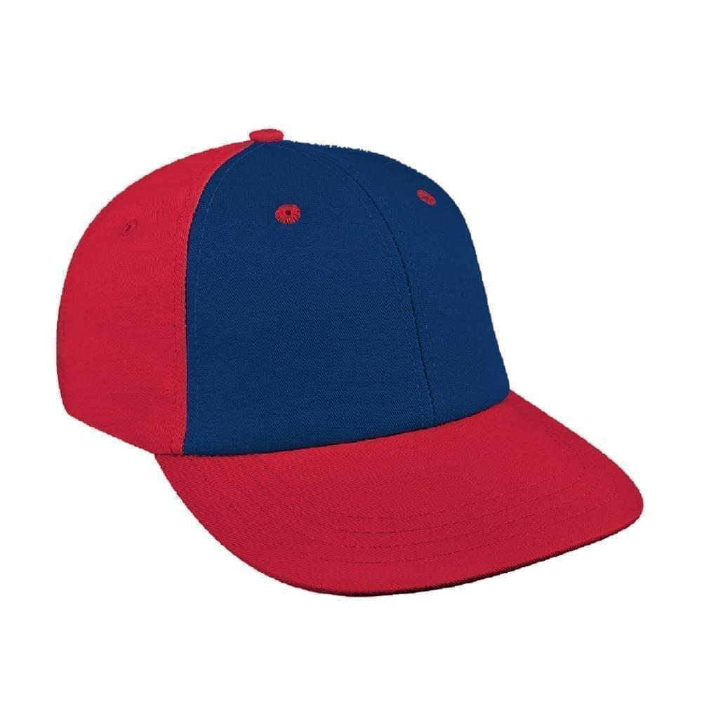 Navy-Red Canvas Snapback Lowstyle