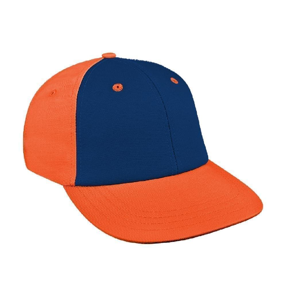 Navy-Orange Canvas Velcro Lowstyle