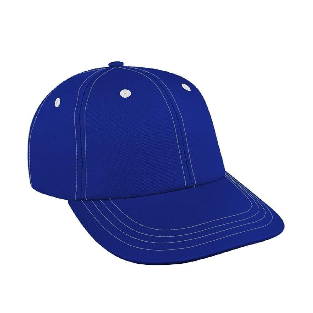 Royal Blue-White Canvas Snapback Lowstyle