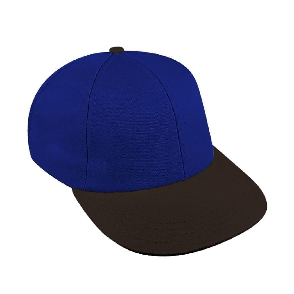 Royal Blue-Black Canvas Velcro Lowstyle