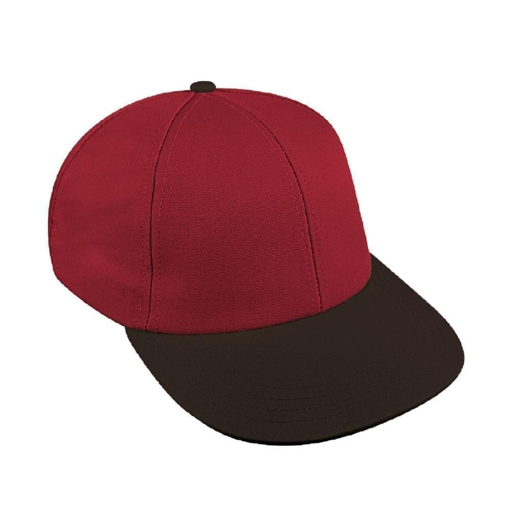 Red-Black Canvas Snapback Lowstyle