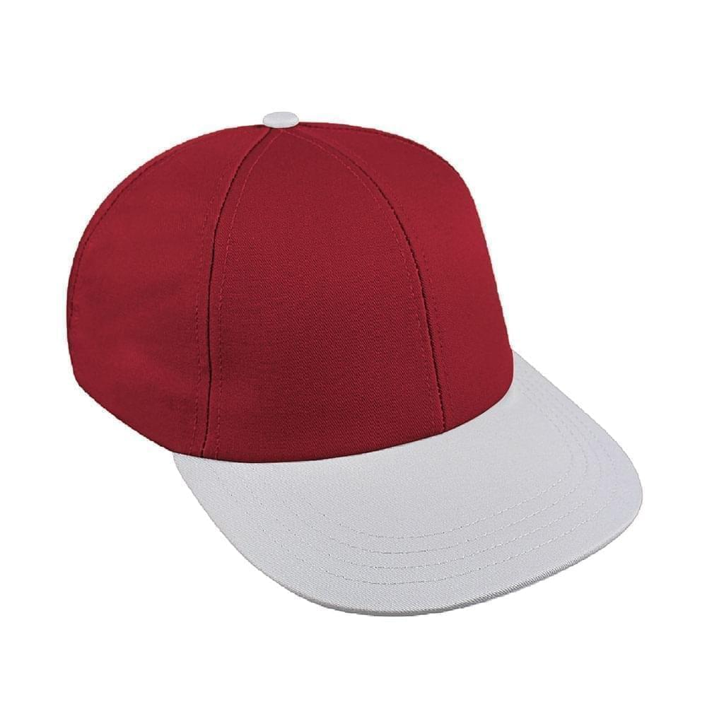 Red-White Canvas Snapback Lowstyle