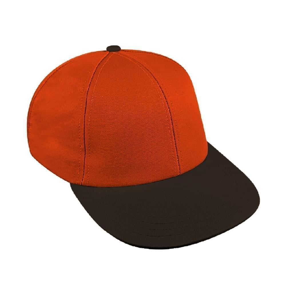 Orange-Black Canvas Snapback Lowstyle