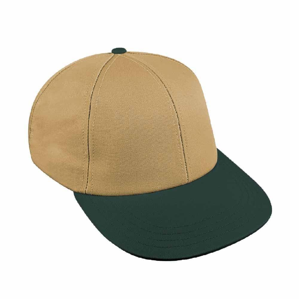 Khaki-Hunter Green Canvas Snapback Lowstyle