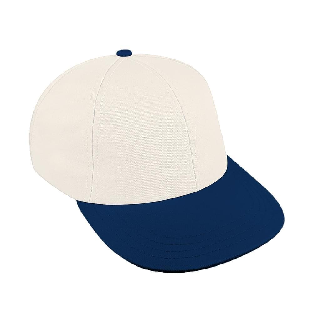 White-Navy Canvas Velcro Lowstyle