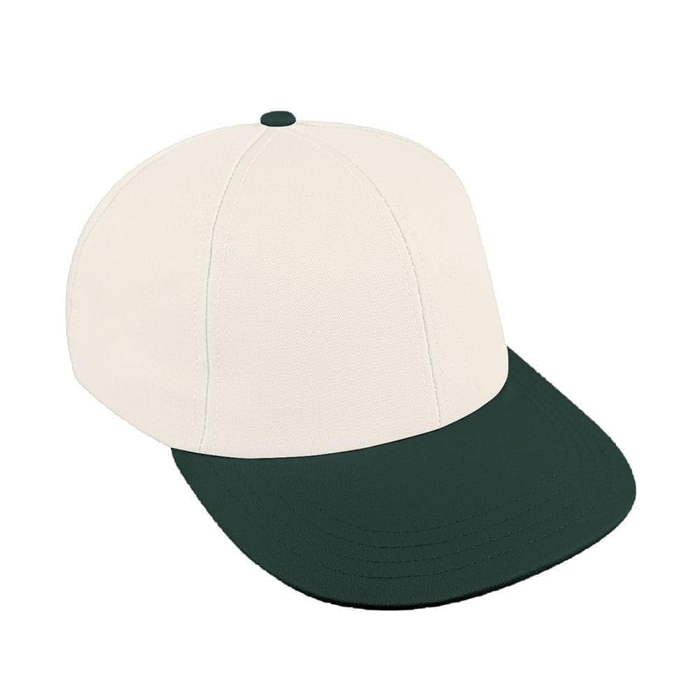 White-Hunter Green Canvas Velcro Lowstyle