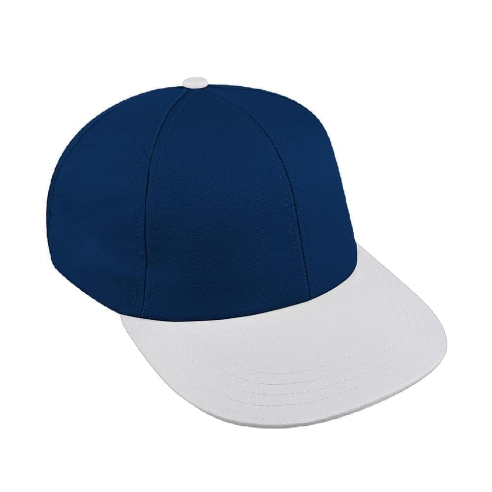 Navy-White Canvas Velcro Lowstyle