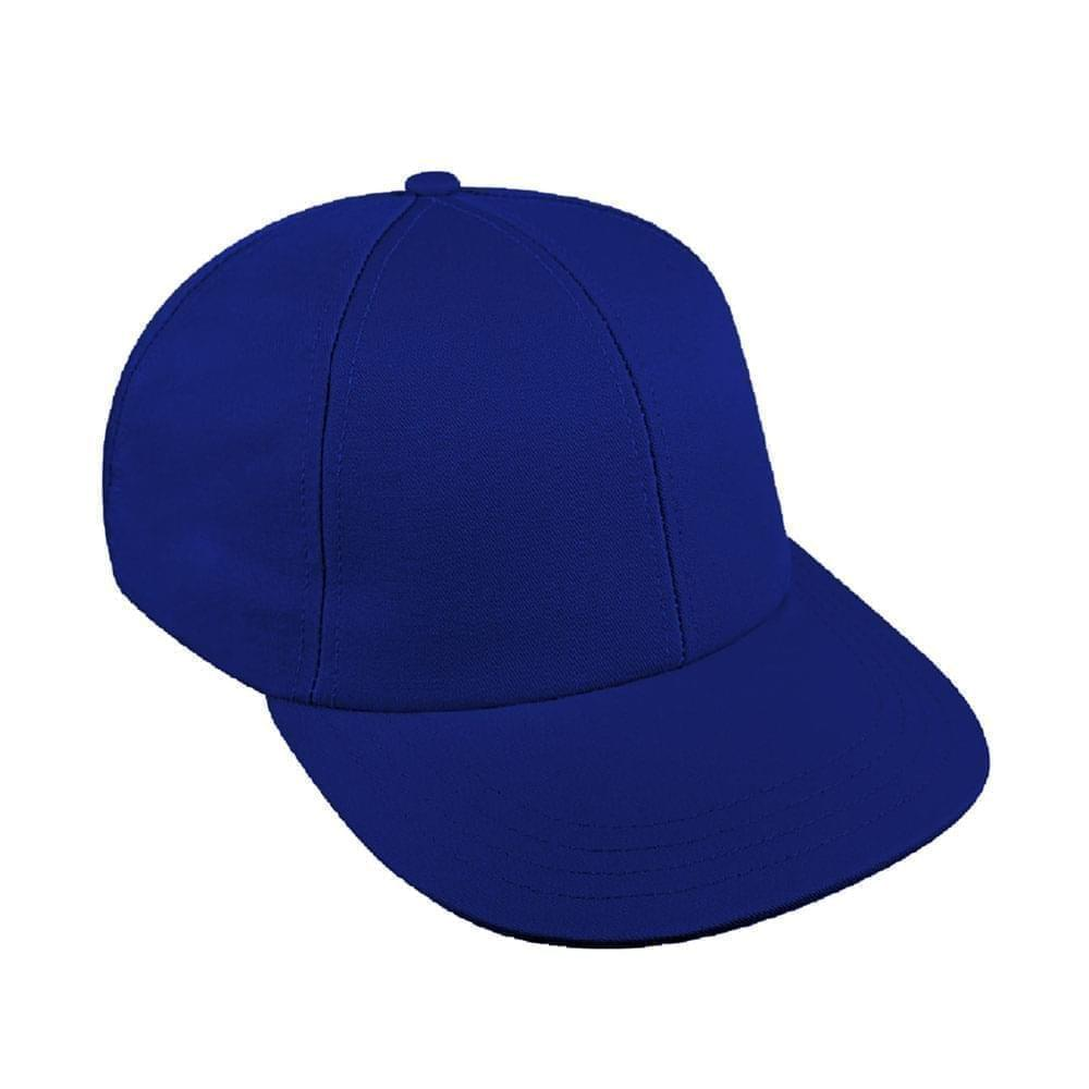 Royal Blue Canvas Snapback Lowstyle