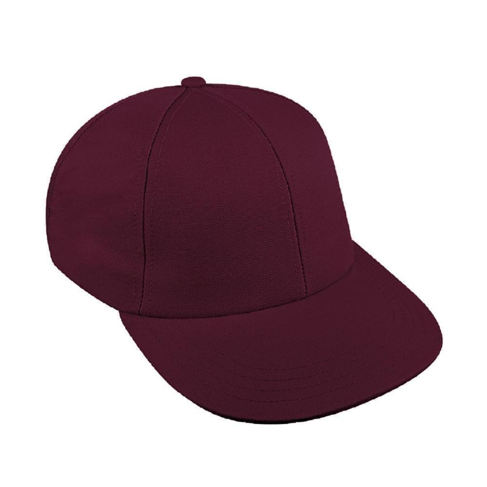 Burgundy Canvas Velcro Lowstyle