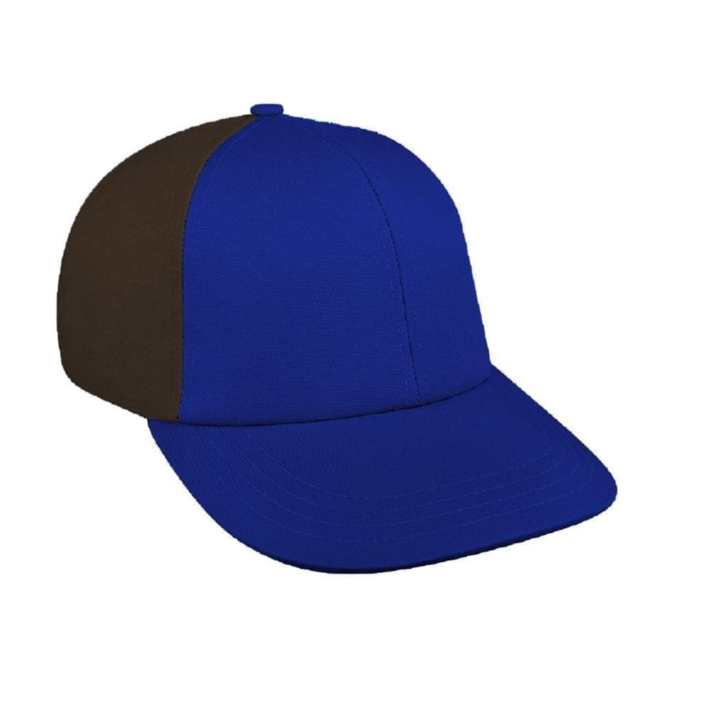 Royal Blue-Black Canvas Snapback Lowstyle
