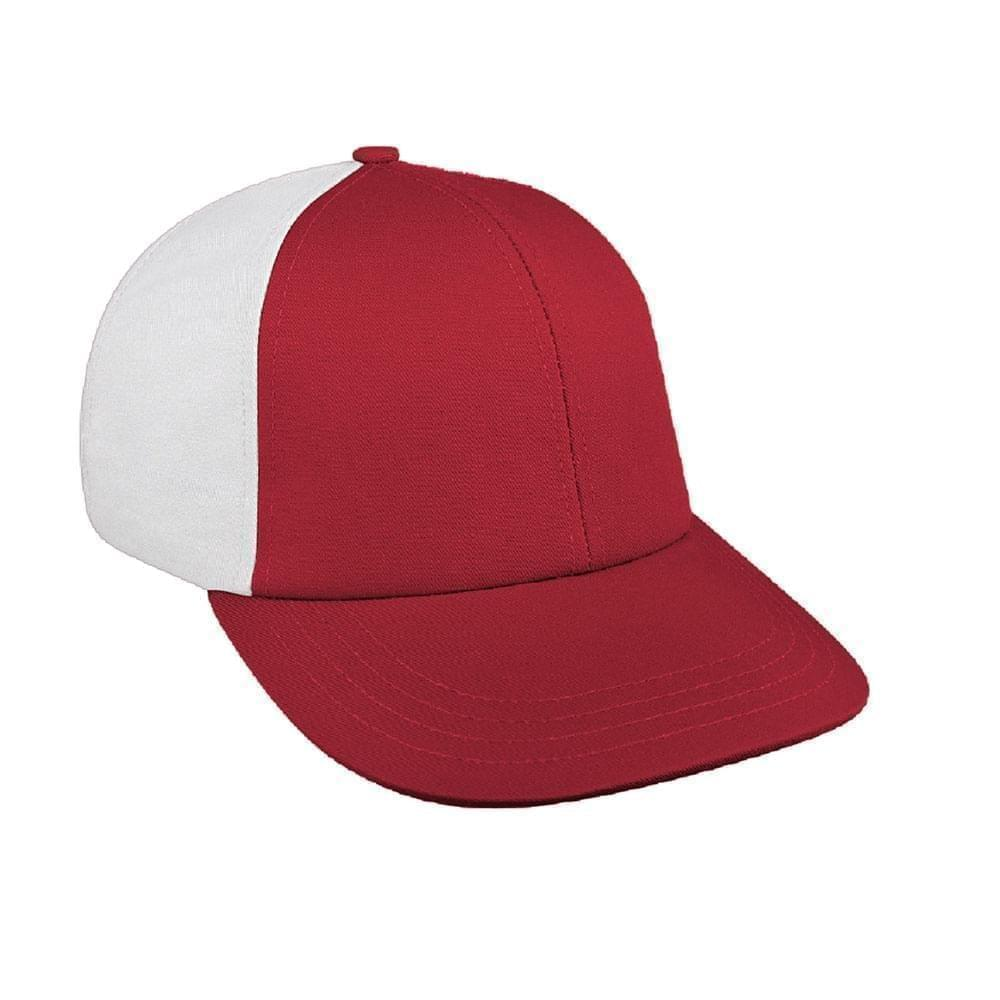 Red-White Canvas Leather Lowstyle