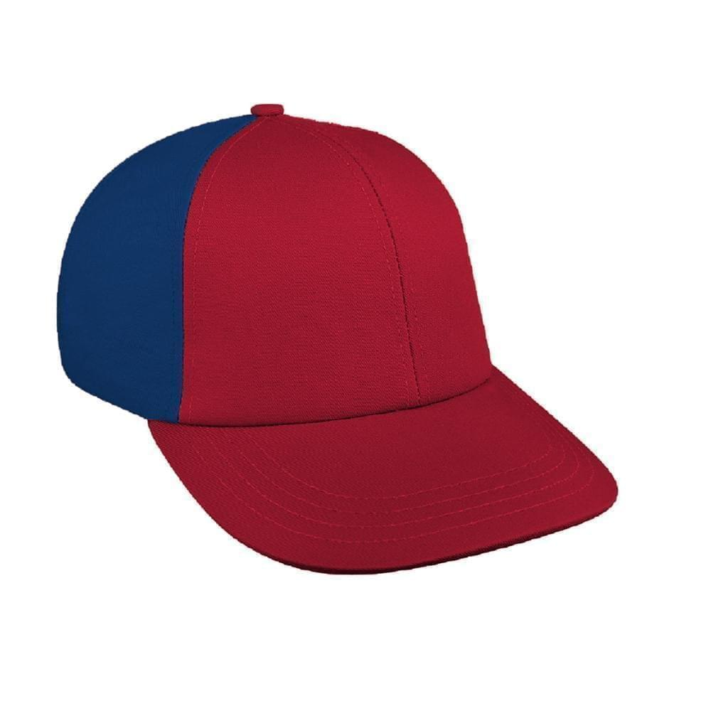 Red-Navy Canvas Snapback Lowstyle