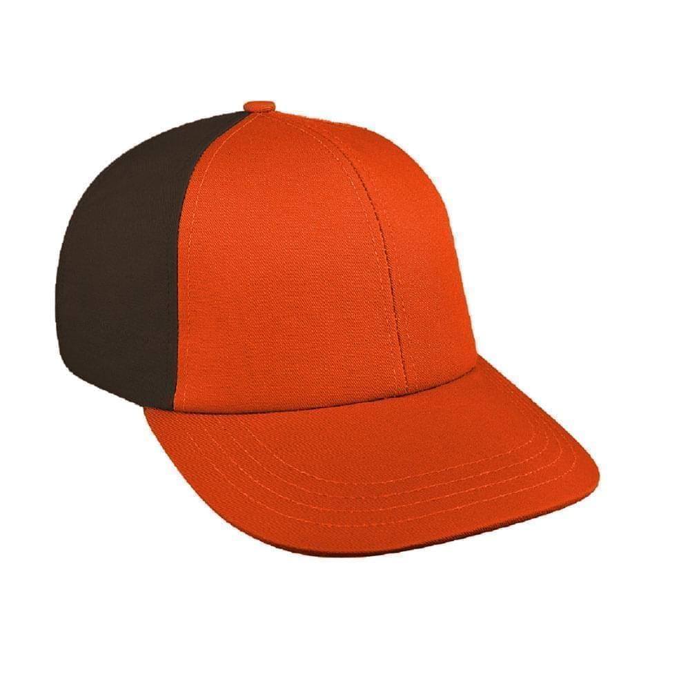 Orange-Black Canvas Leather Lowstyle
