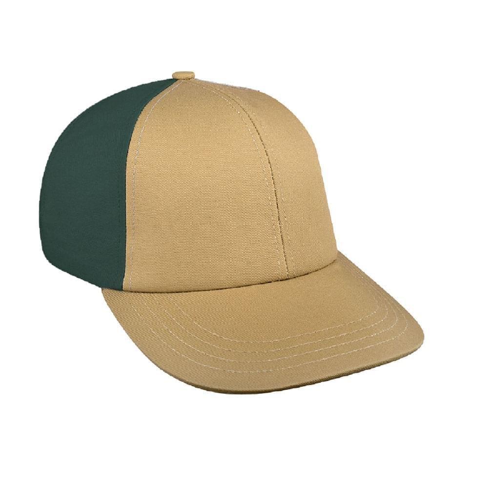 Khaki-Hunter Green Canvas Snapback Lowstyle