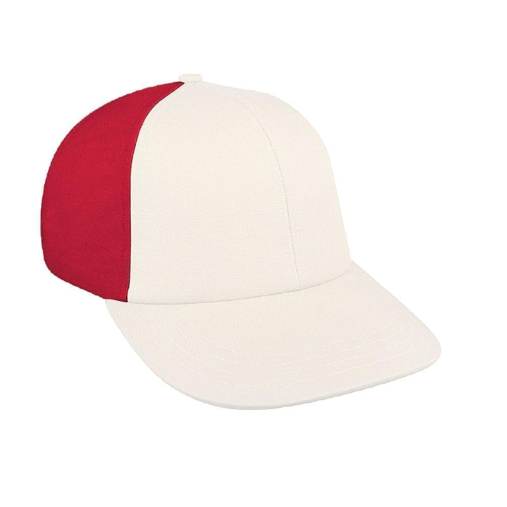 White-Red Canvas Velcro Lowstyle