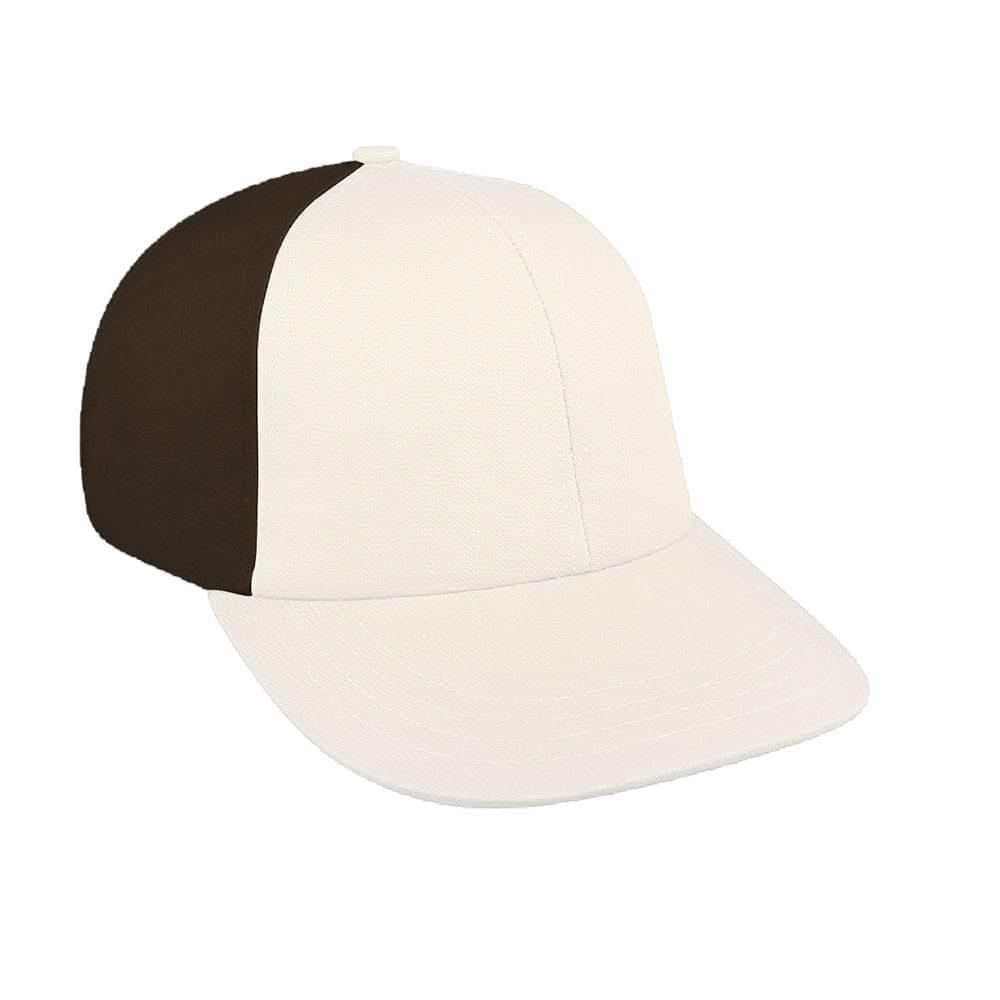 White-Black Canvas Leather Lowstyle