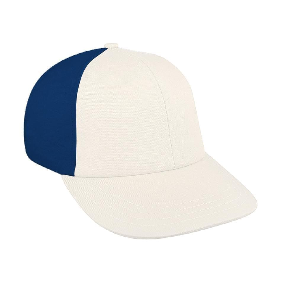 White-Navy Canvas Leather Lowstyle