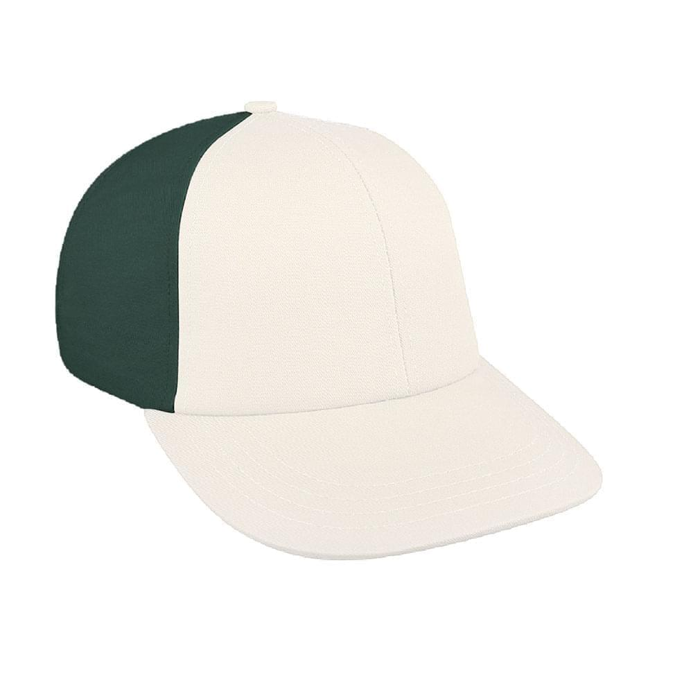 White-Hunter Green Canvas Leather Lowstyle