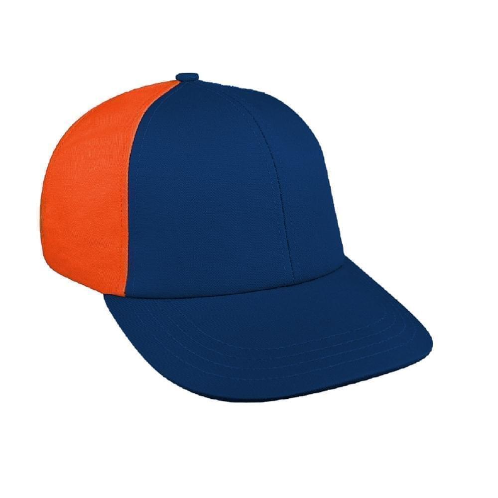 Navy-Orange Canvas Snapback Lowstyle