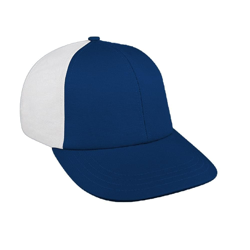 Navy-White Canvas Snapback Lowstyle