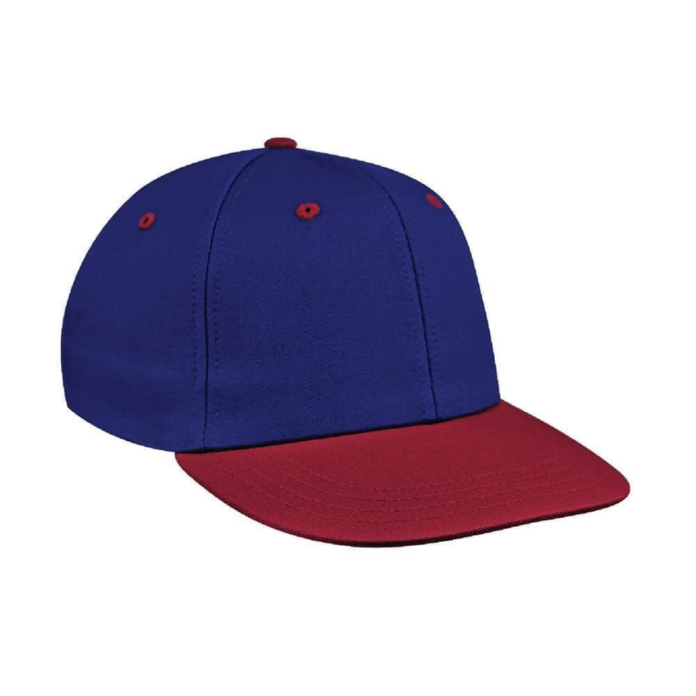 Royal Blue-Red Canvas Snapback Prostyle