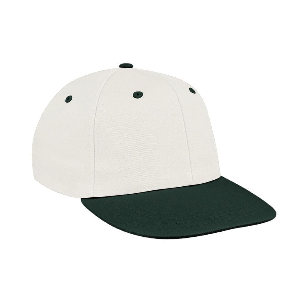 White-Hunter Green Canvas Velcro Prostyle