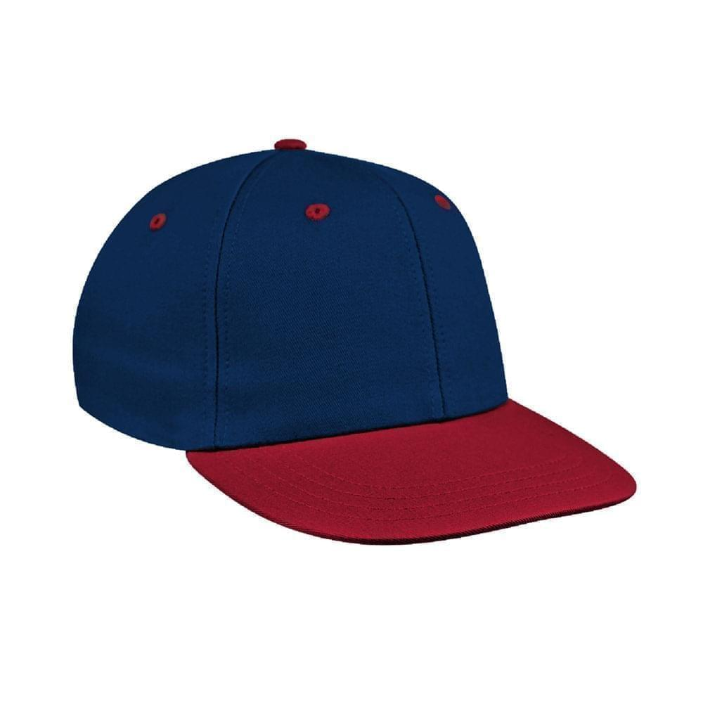 Navy-Red Canvas Snapback Prostyle