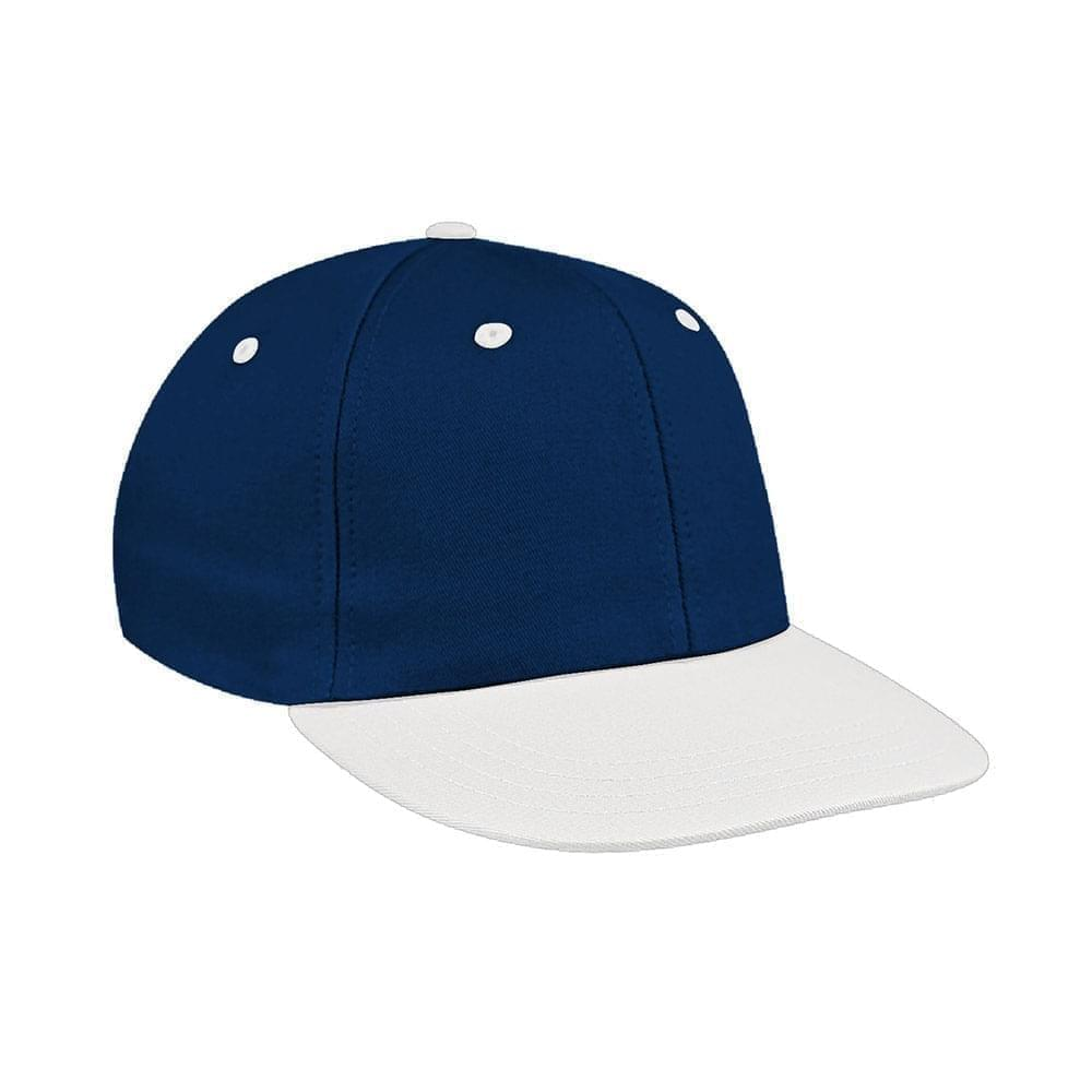 Navy-White Canvas Snapback Prostyle