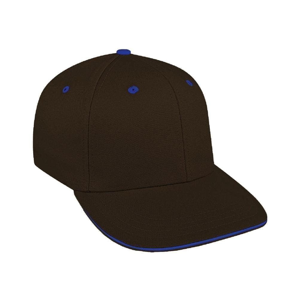 Black-Royal Blue Canvas Snapback Prostyle