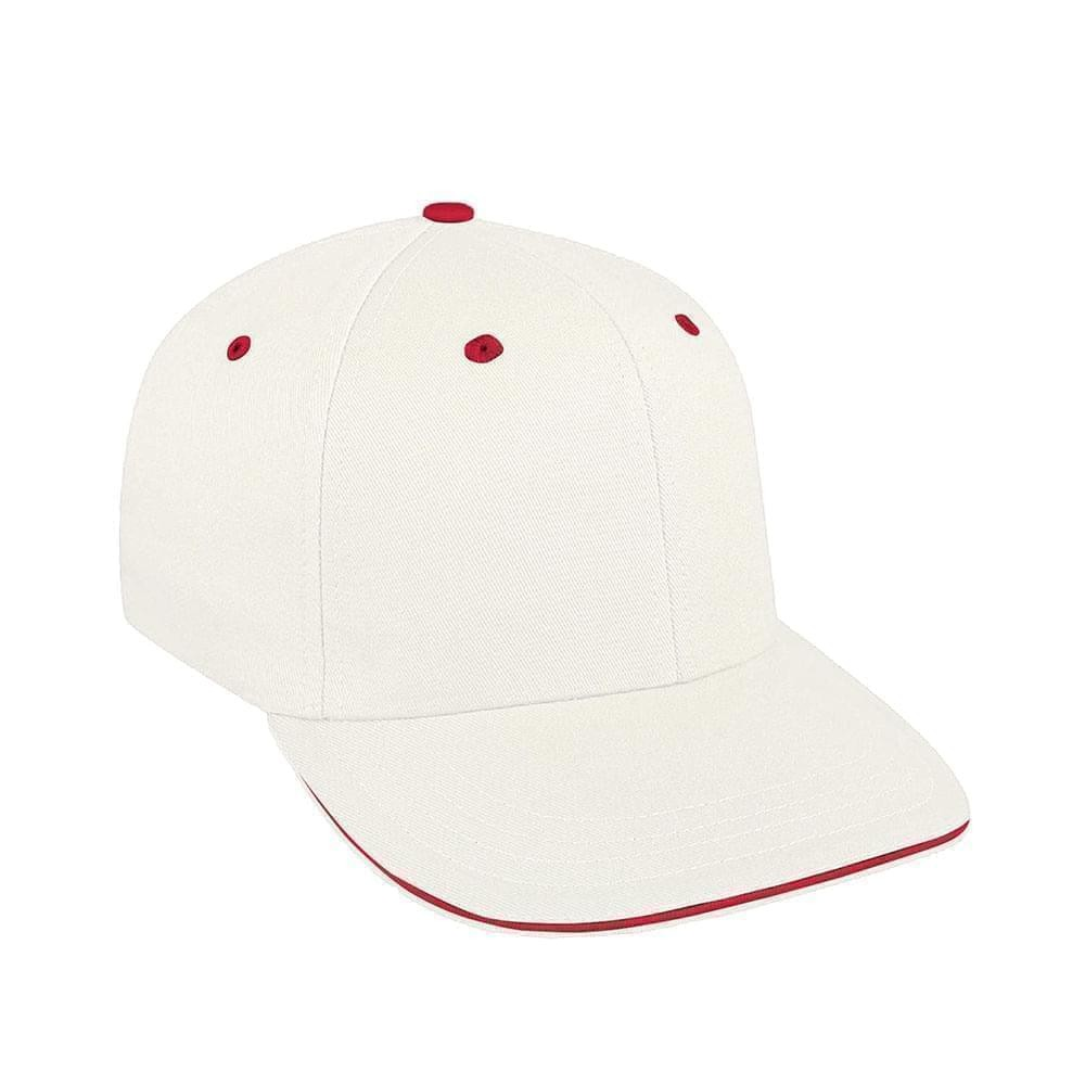 White-Red Canvas Velcro Prostyle