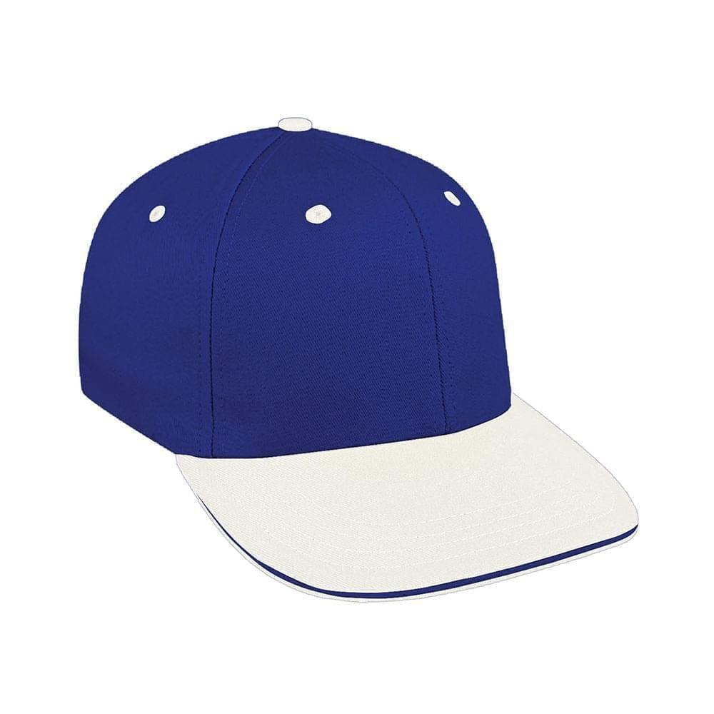 Royal Blue-White Canvas Snapback Prostyle