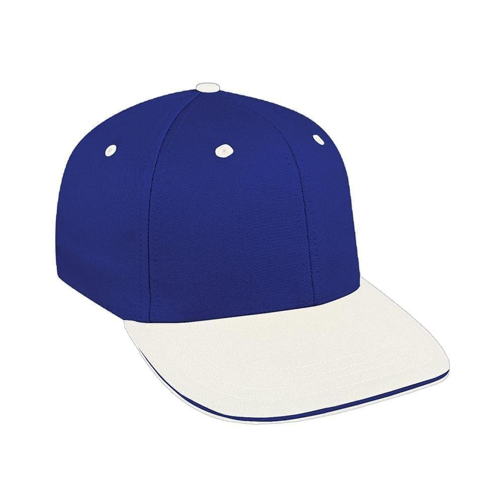 Royal Blue-White Canvas Velcro Prostyle