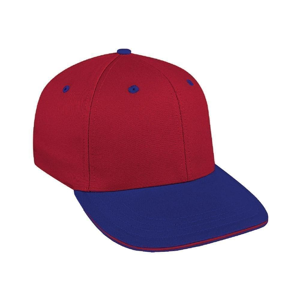Red-Royal Blue Canvas Leather Prostyle