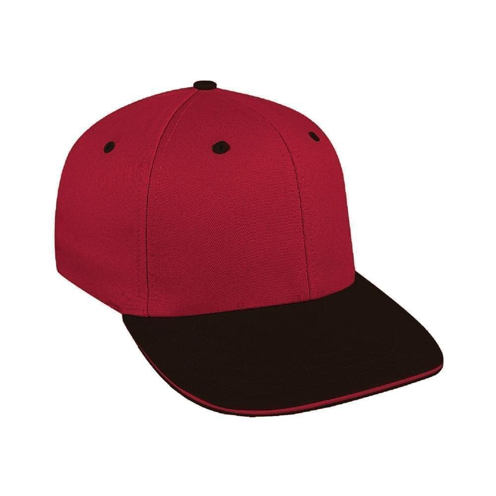 Red-Black Canvas Snapback Prostyle