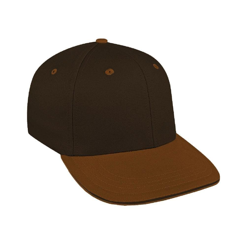 Black-Light Brown Canvas Snapback Prostyle