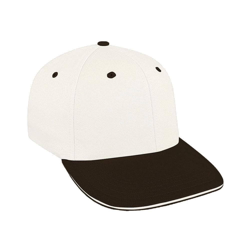 White-Black Canvas Snapback Prostyle