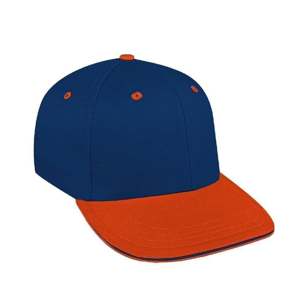 Navy-Orange Canvas Leather Prostyle