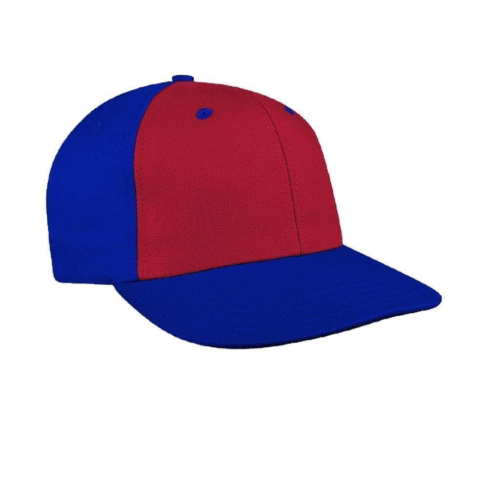 Red-Royal Blue Canvas Snapback Prostyle