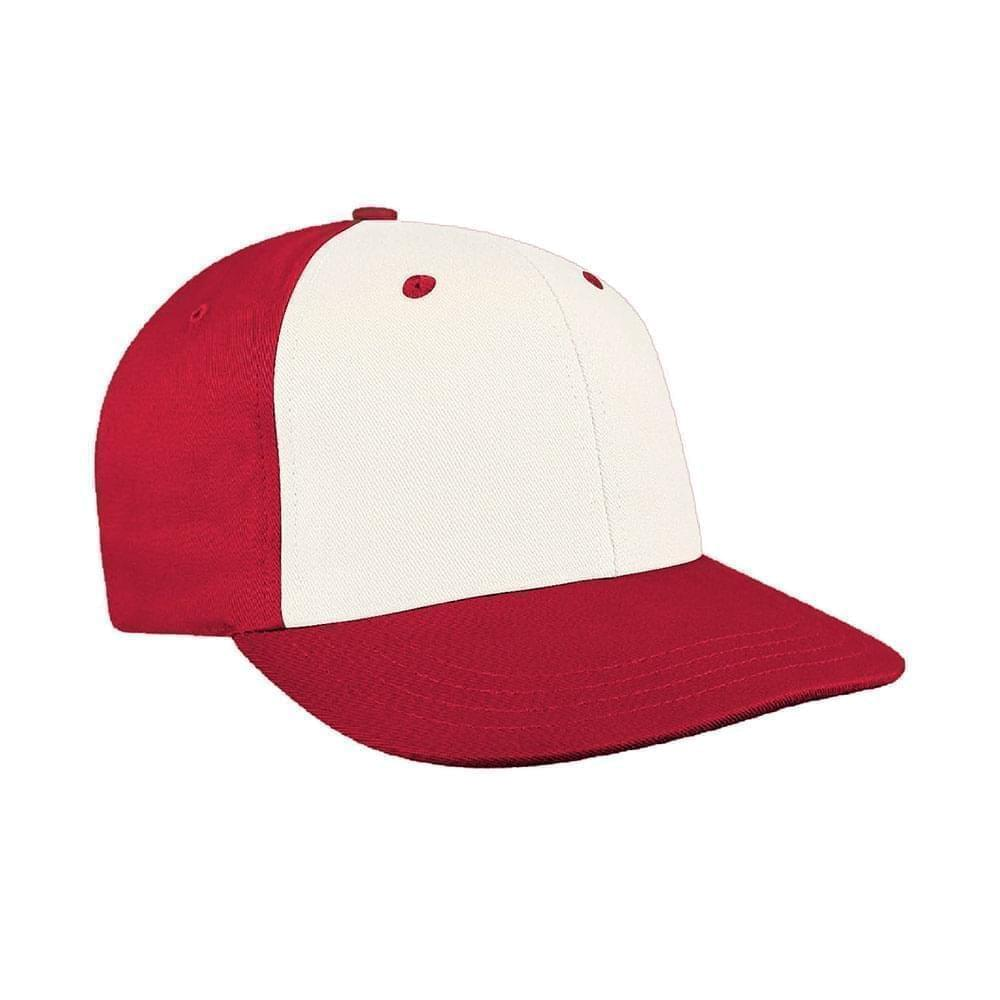 White-Red Canvas Snapback Prostyle