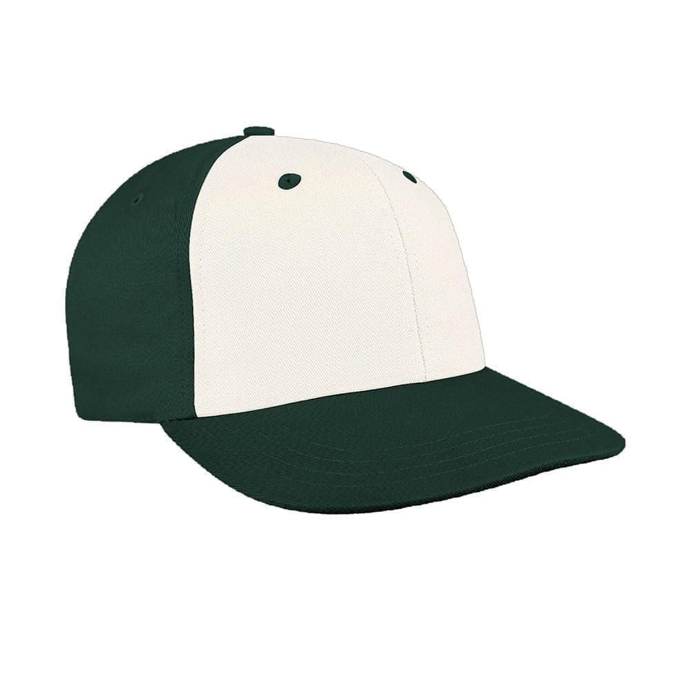 White-Hunter Green Canvas Snapback Prostyle