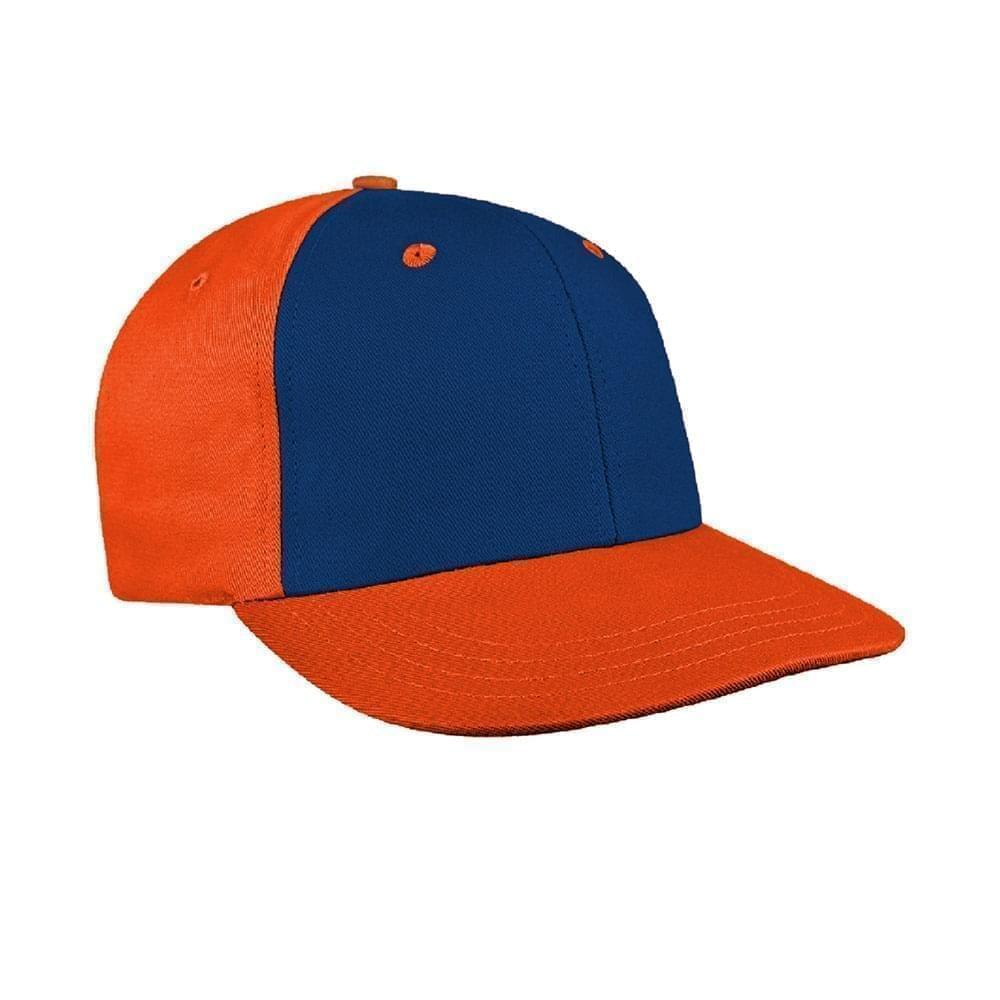 Navy-Orange Canvas Snapback Prostyle