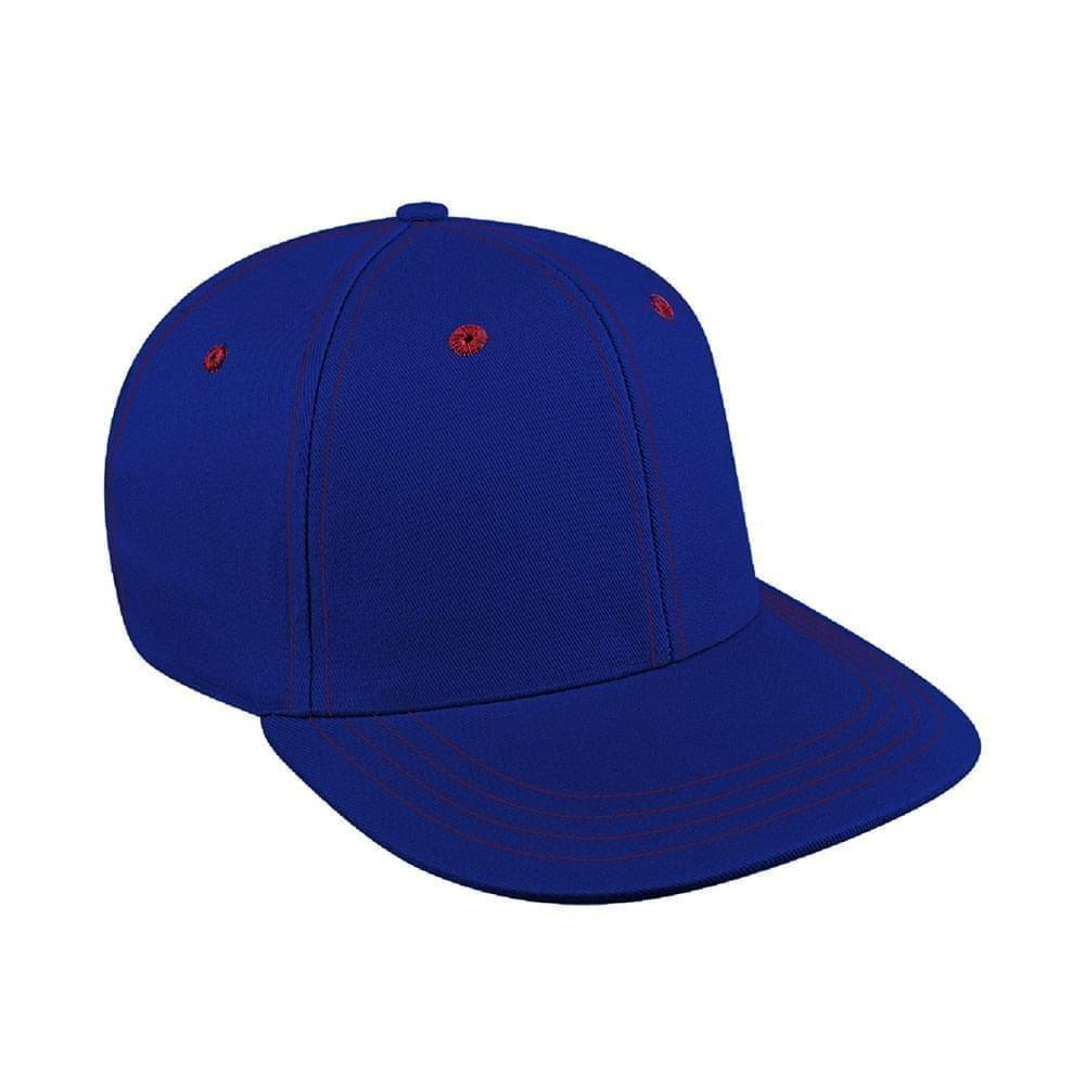 Royal Blue-Red Canvas Leather Prostyle