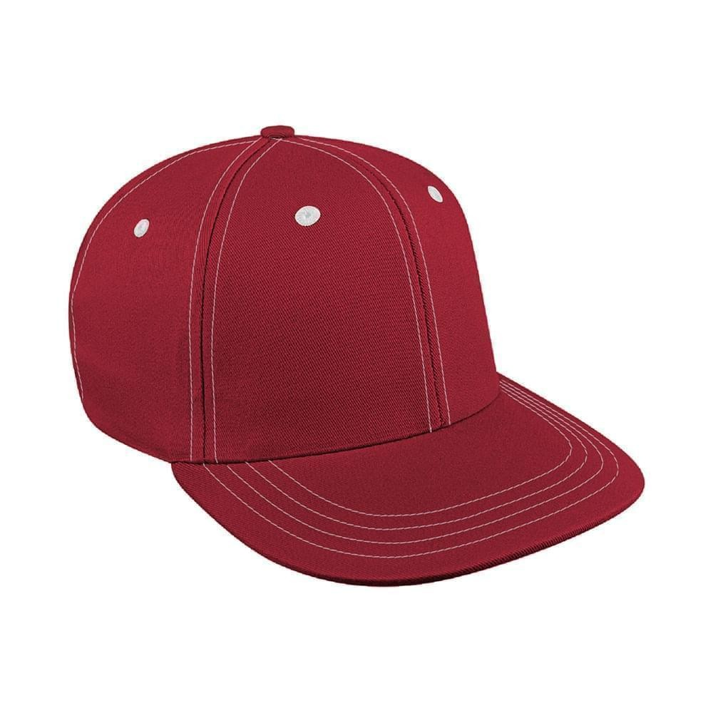 Red-White Canvas Snapback Prostyle
