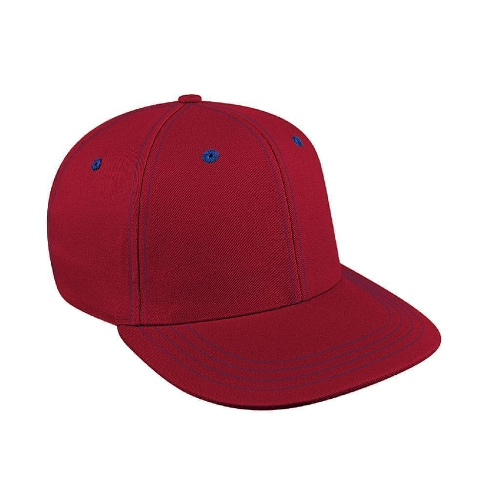 Red-Navy Canvas Leather Prostyle