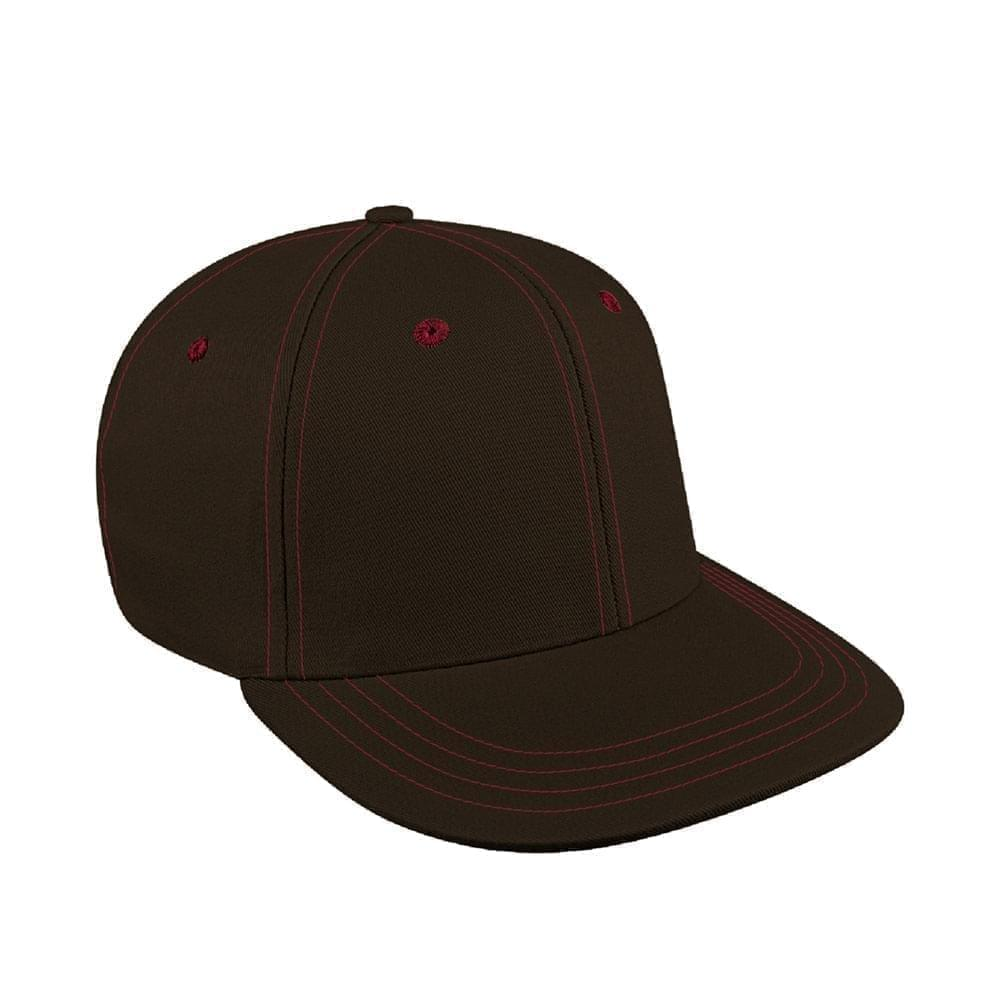 Black-Red Canvas Snapback Prostyle