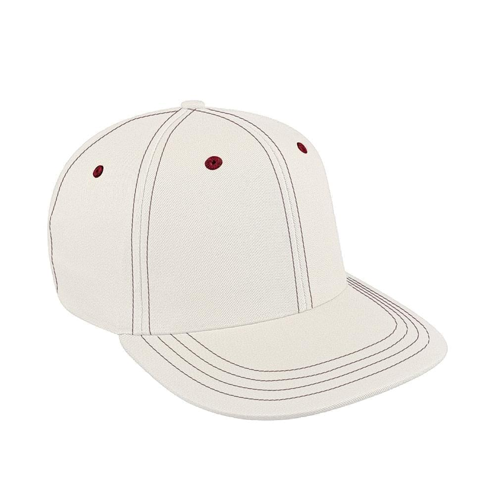 White-Red Canvas Snapback Prostyle
